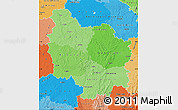 Political Shades Map of Bourgogne