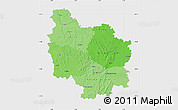 Political Shades Map of Bourgogne, single color outside