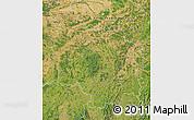 Satellite Map of Bourgogne