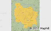 Savanna Style Map of Bourgogne