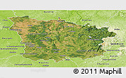 Satellite Panoramic Map of Nievre, physical outside
