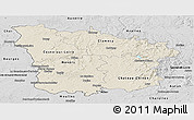 Shaded Relief Panoramic Map of Nievre, desaturated