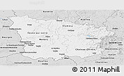 Silver Style Panoramic Map of Nievre