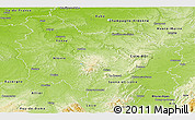 Physical Panoramic Map of Bourgogne