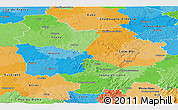 Political Panoramic Map of Bourgogne