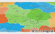 Political Shades Panoramic Map of Bourgogne