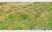 Satellite Panoramic Map of Bourgogne