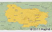 Savanna Style Panoramic Map of Bourgogne