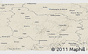 Shaded Relief Panoramic Map of Bourgogne