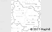 Blank Simple Map of Bourgogne