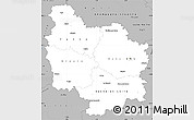 Gray Simple Map of Bourgogne