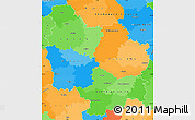 Political Simple Map of Bourgogne