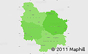 Political Shades Simple Map of Bourgogne, single color outside