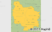 Savanna Style Simple Map of Bourgogne