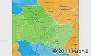 Political Shades 3D Map of Yonne