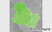 Political Shades Map of Yonne, desaturated