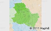 Political Shades Map of Yonne, lighten