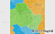 Political Shades Map of Yonne