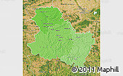 Political Shades Map of Yonne, satellite outside
