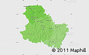 Political Shades Map of Yonne, single color outside