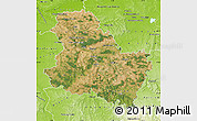 Satellite Map of Yonne, physical outside