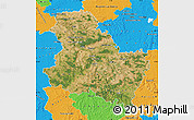 Satellite Map of Yonne, political outside