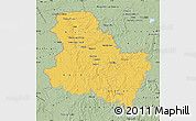 Savanna Style Map of Yonne
