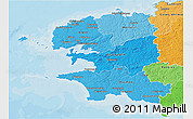 Political Shades 3D Map of Finistere