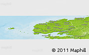 Physical Panoramic Map of Brest