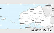 Silver Style Simple Map of Brest