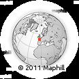 Outline Map of Quimper