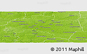 Physical Panoramic Map of Rennes