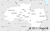 Silver Style Simple Map of Rennes