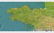 Satellite Map of Bretagne