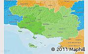 Political Shades 3D Map of Morbihan