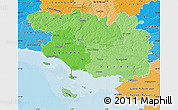 Political Shades Map of Morbihan