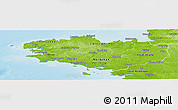 Physical Panoramic Map of Bretagne