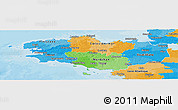 Political Panoramic Map of Bretagne