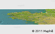 Satellite Panoramic Map of Bretagne