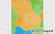 Political Shades Map of Eure-et-Loir