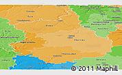 Political Shades Panoramic Map of Eure-et-Loir