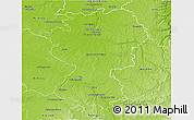 Physical 3D Map of Montargis