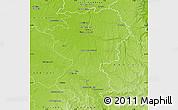 Physical Map of Montargis