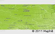 Physical Panoramic Map of Montargis