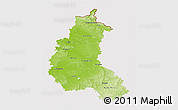 Physical 3D Map of Champagne-Ardenne, cropped outside