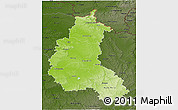 Physical 3D Map of Champagne-Ardenne, darken