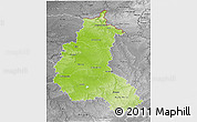Physical 3D Map of Champagne-Ardenne, desaturated