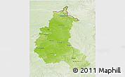 Physical 3D Map of Champagne-Ardenne, lighten