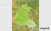 Physical 3D Map of Champagne-Ardenne, satellite outside