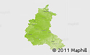 Physical 3D Map of Champagne-Ardenne, single color outside